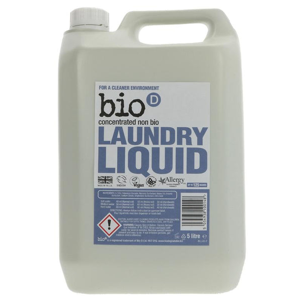 Bio D Concentrated Non-Bio Laundry Liquid 5l - Fragrance Free - Smug Store