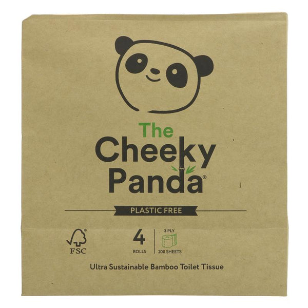 The Cheeky Panda Bamboo Toilet Paper - 4 rolls in Paper Wrap - Smug Store