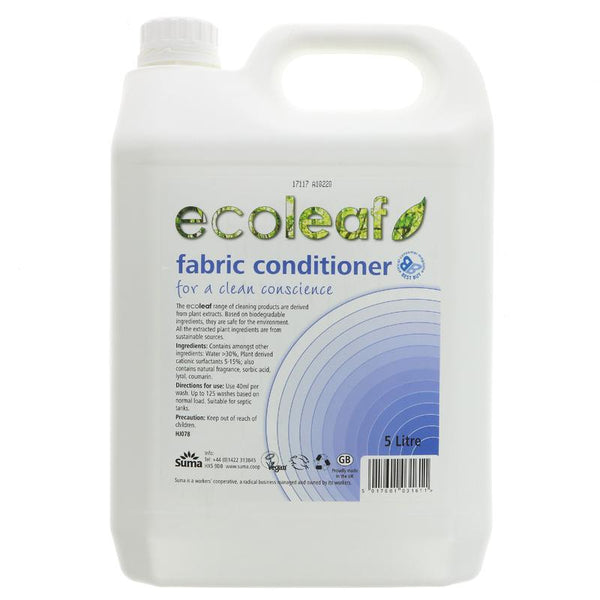 Ecoleaf Fabric Conditioner Lily & Riceflower - 5l - Smug Store