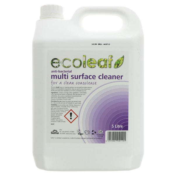 Ecoleaf Anti-Bacterial Multi Surface Cleaner 5l - Smug Store
