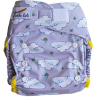Tickle Tots 2 - All in Two Reusable Nappy - Busy Bees - Smug Store