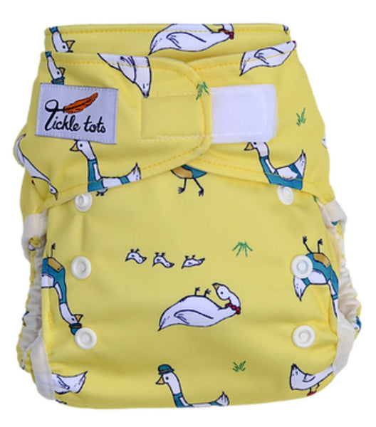 Tickle Tots 2 - All in Two Reusable Nappy - Dizzy Ducks - Smug Store