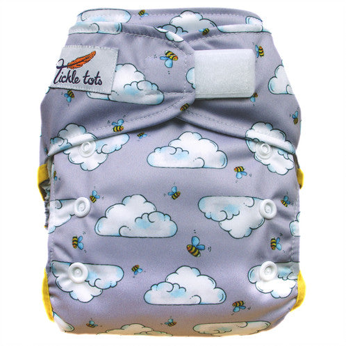 Tickle Tots - All in One Reusable Nappy - Busy Bees - Smug Store