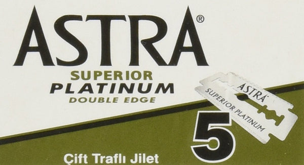 Astra Superior Platinum Double Edge Razor Blades - Pack of 5 - Smug Store