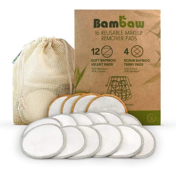 Bamboo Reusable Makeup Remover Pads - Pack of 16 - Smug Store