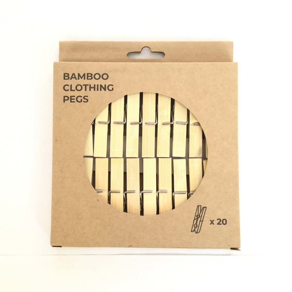 Bamboo Clothes Pegs by Zero Waste Club - Box of 20 - Smug Store