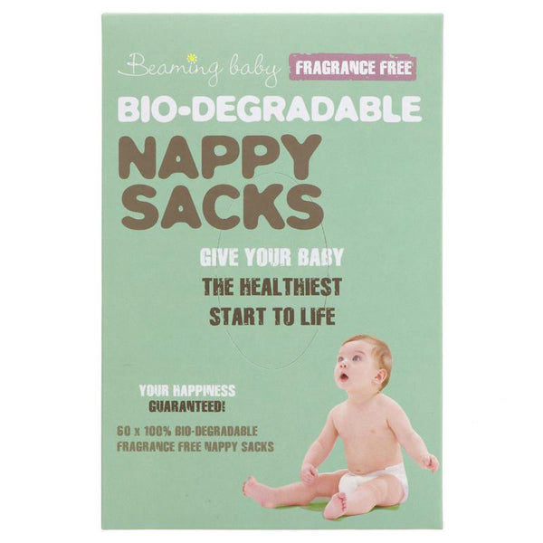Beaming Baby Biodegradable Nappy Sacks - Fragrance Free - Box of 60 - Smug Store