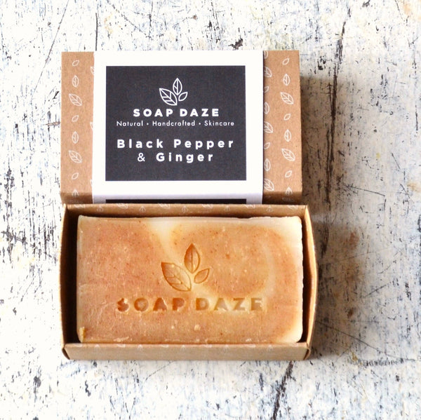 Soapdaze Vegan Gift Soap - Black Pepper & Ginger - Smug Store