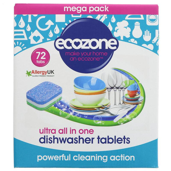 Ecozone Dishwasher Tablets - Ultra All in One - Box of 72 - Smug Store