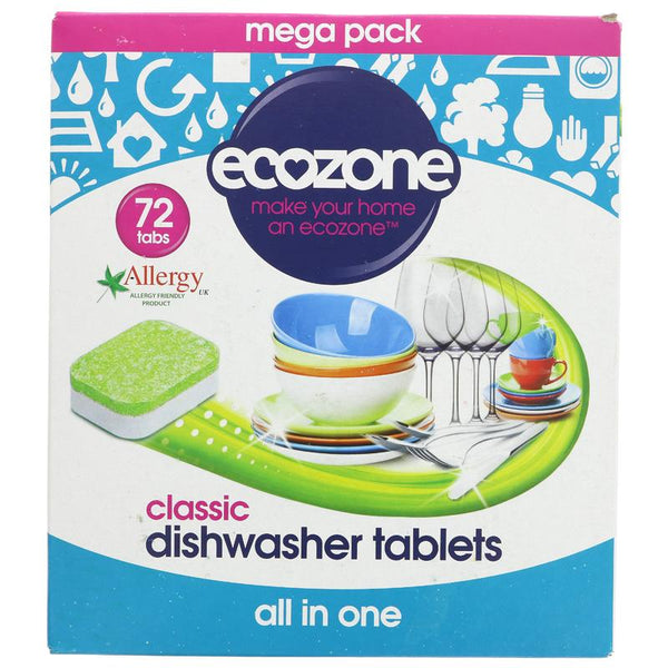 Ecozone Dishwasher Tablets - Classic - Box of 72 - Smug Store