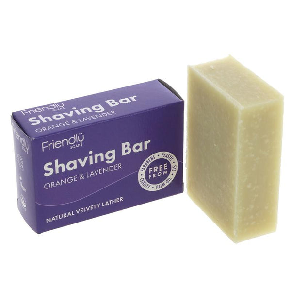 Friendly Soap Natural Solid Shaving Soap - Orange & Lavender - Smug Store
