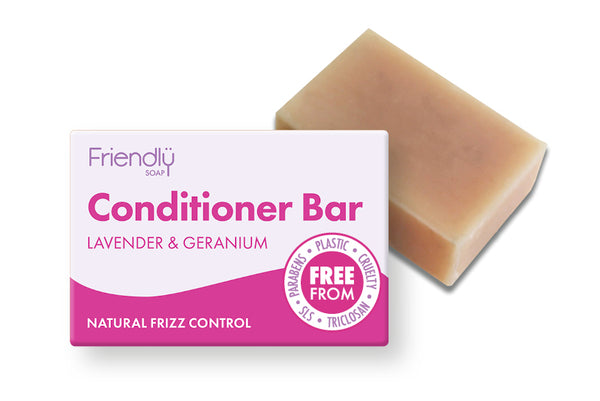 Friendly Soap Natural Solid Conditioner Bar - Lavender & Geranium - Smug Store