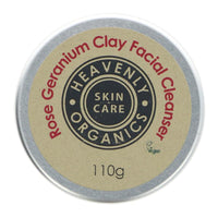 Heavenly Organics Rose Geranium Clay Facial Cleanser - 110g - Smug Store