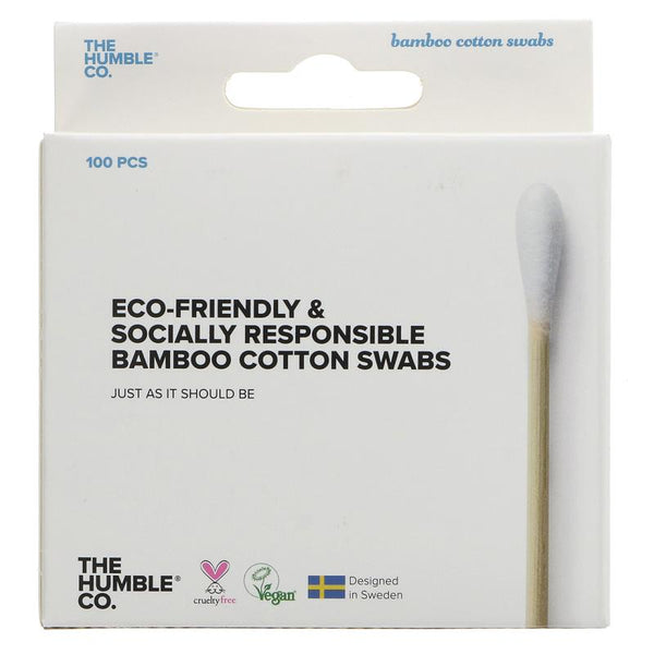 Humble White Bamboo Cotton Buds - Box of 100 - Smug Store