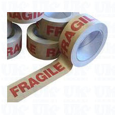 Fragile Paper Parcel Tape - Self Adhesive - 50cm x 50m - Smug Store