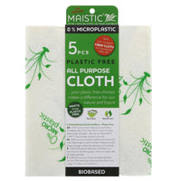 Maistic All-Purpose Plastic-Free Cleaning Cloths - Pack of 5 - Smug Store