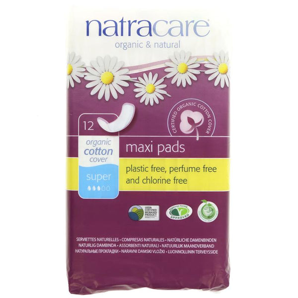 Natracare Plastic Free Press On Sanitary Towels - 12 Super - Smug Store