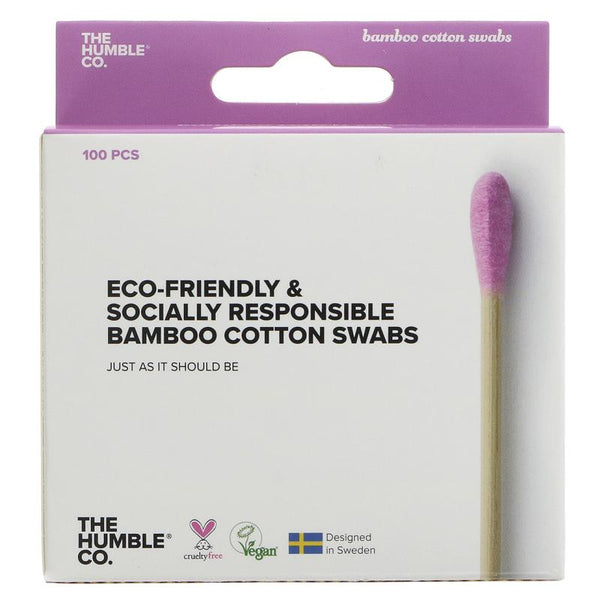 Humble Pink Bamboo Cotton Buds - Box of 100 - Smug Store