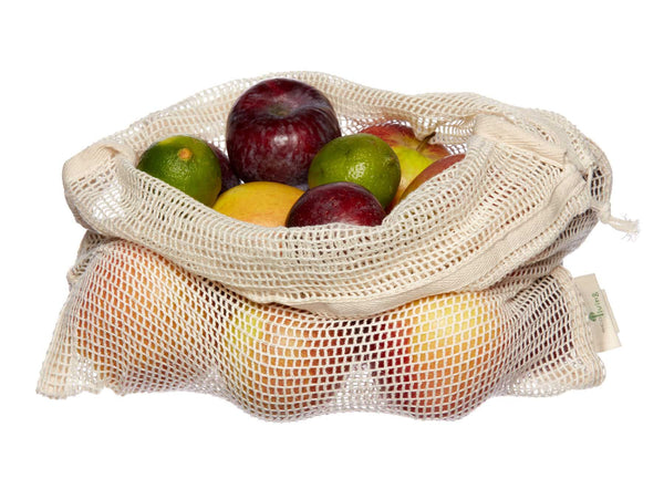 EcoLiving Organic Cotton Net Fruit & Vegetable Bag - Smug Store