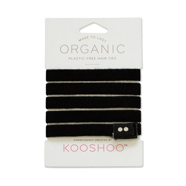 Kooshoo Plastic Free Reusable Hair Bobbles - Black - Pack of 5 - Smug Store