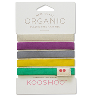 Kooshoo Plastic Free Reusable Hair Bobbles - Colours - Pack of 5 - Smug Store