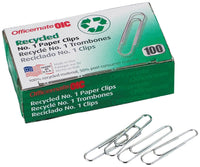 Recycled Paper Clips - Box of 100 - Smug Store