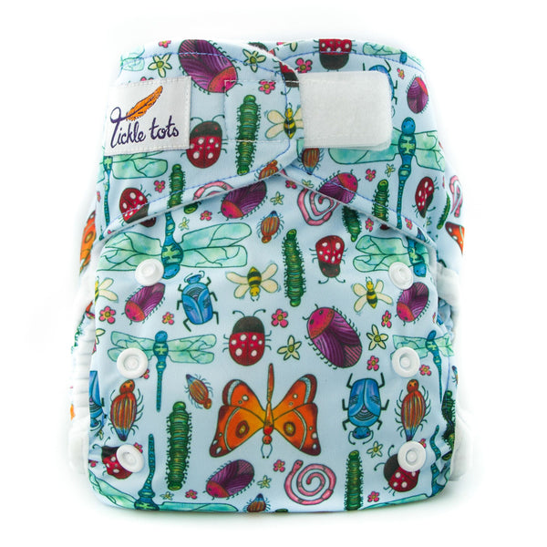Tickle Tots 2 - All in Two Reusable Nappy - Bugs - Smug Store