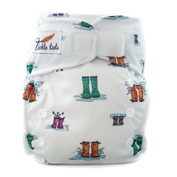 Tickle Tots - All in One Reusable Nappy - Wellies - Smug Store