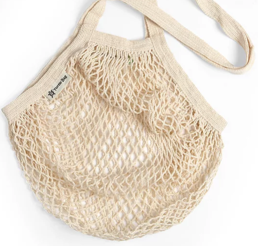 Turtle Bags Organic Cotton String Bag - Natural, Long Handle - Smug Store