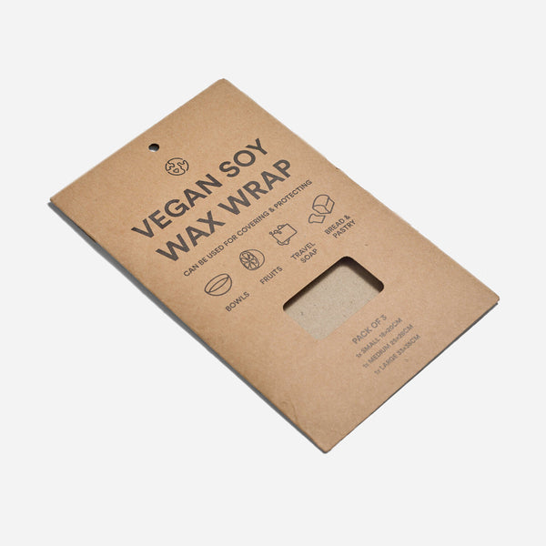 Pack of 3 Soy Food Wraps - Zero Waste Club - Vegan - Smug Store