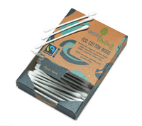 Recycled Card Organic Cotton Buds - Box of 100 - Smug Store