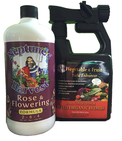 Complete Organic Landscape and Flower Starter Package Ready To Go