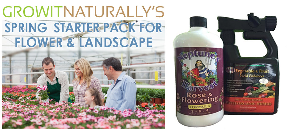Spring Organic Flower and Landscape Starter Pack