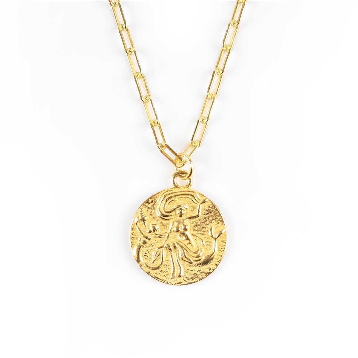 Little Mermaid Necklace Gold