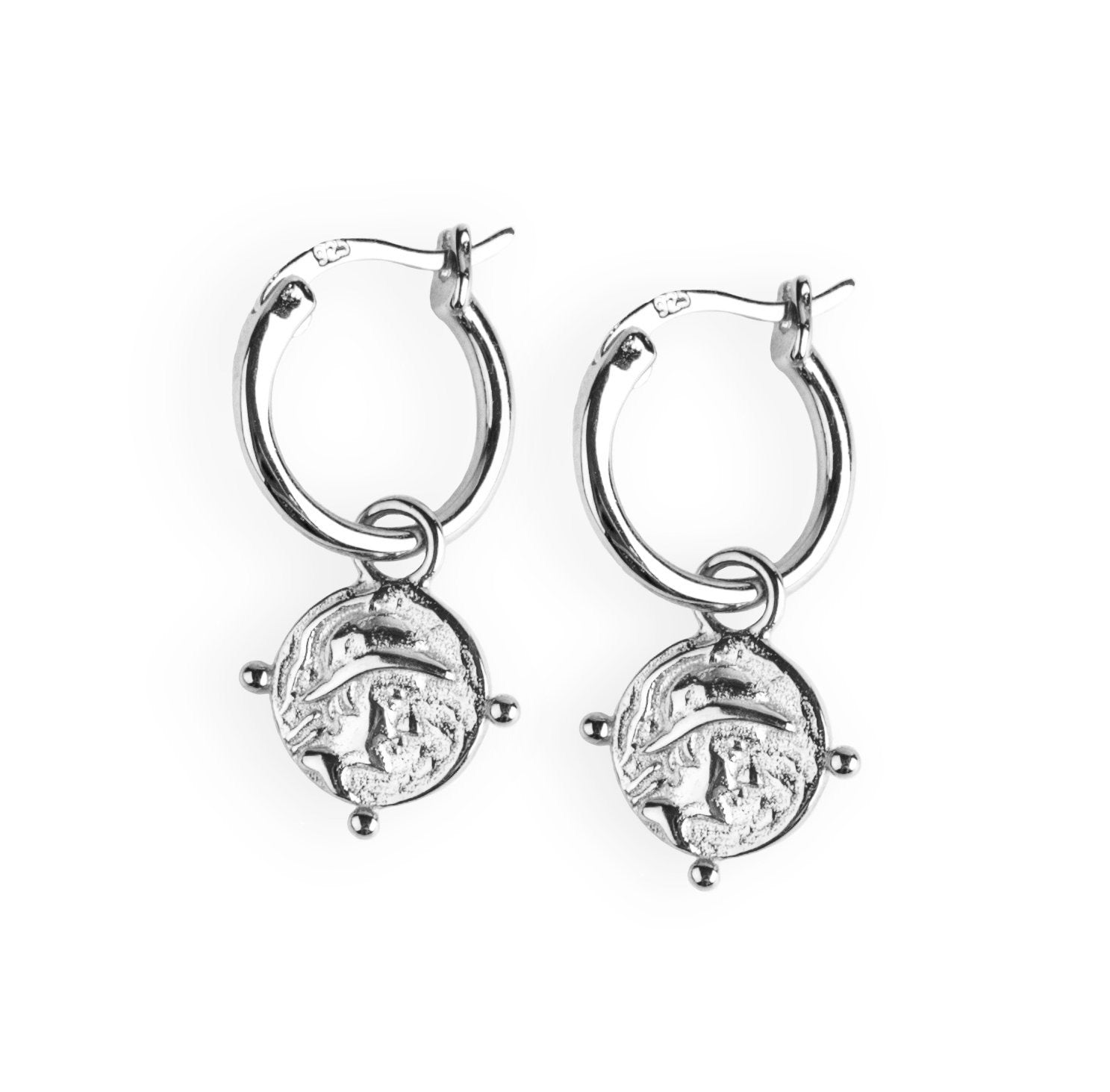 Roman Coin Earrings Silber - Wildflowers
