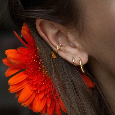 Indie Flower Hoops Gold - Wildflowers