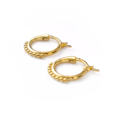 Indie Flower Hoops Gold