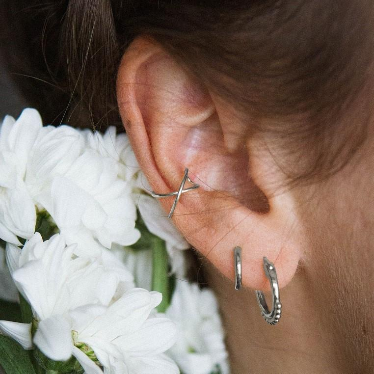 Indie Flower Hoops Silber - Wildflowers