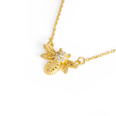 Queen Bee Necklace Gold - Wildflowers