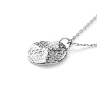 Honeycomb Necklace Silber