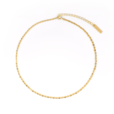 Chunky Leaves Choker Gold - Wildflowers
