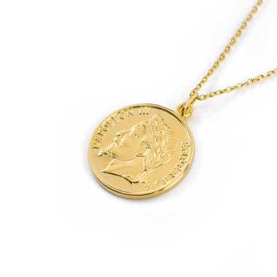 Napoleon Coin Gold Necklace SALE - Wildflowers