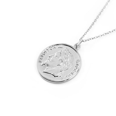 Napoleon Coin Silber Necklace SALE - Wildflowers