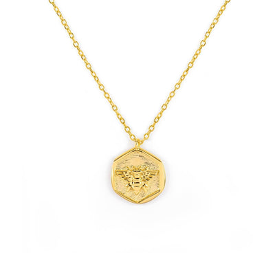 Honeybee Necklace Gold