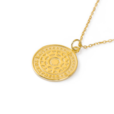 Live to Express Necklace Gold - Wildflowers