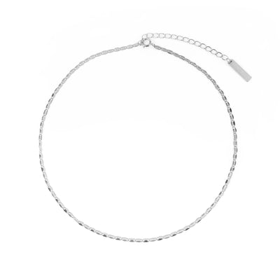 Chunky Leaves Choker Silber - Wildflowers