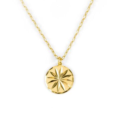 Cornflower Necklace Gold