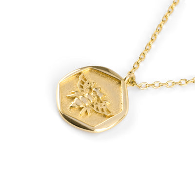 Honeybee Necklace Gold - Wildflowers
