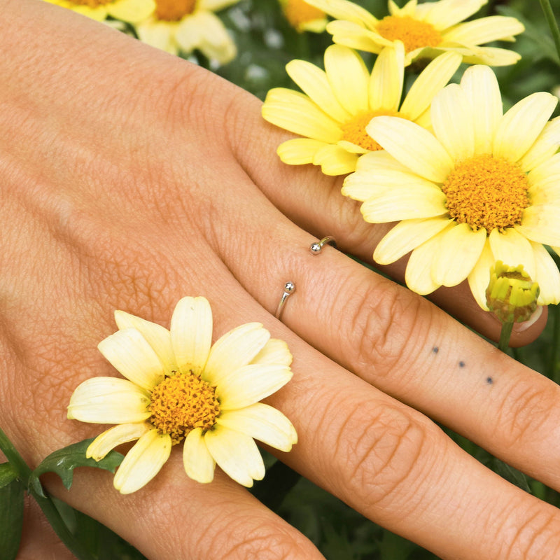 Basic Ring Silber - Wildflowers