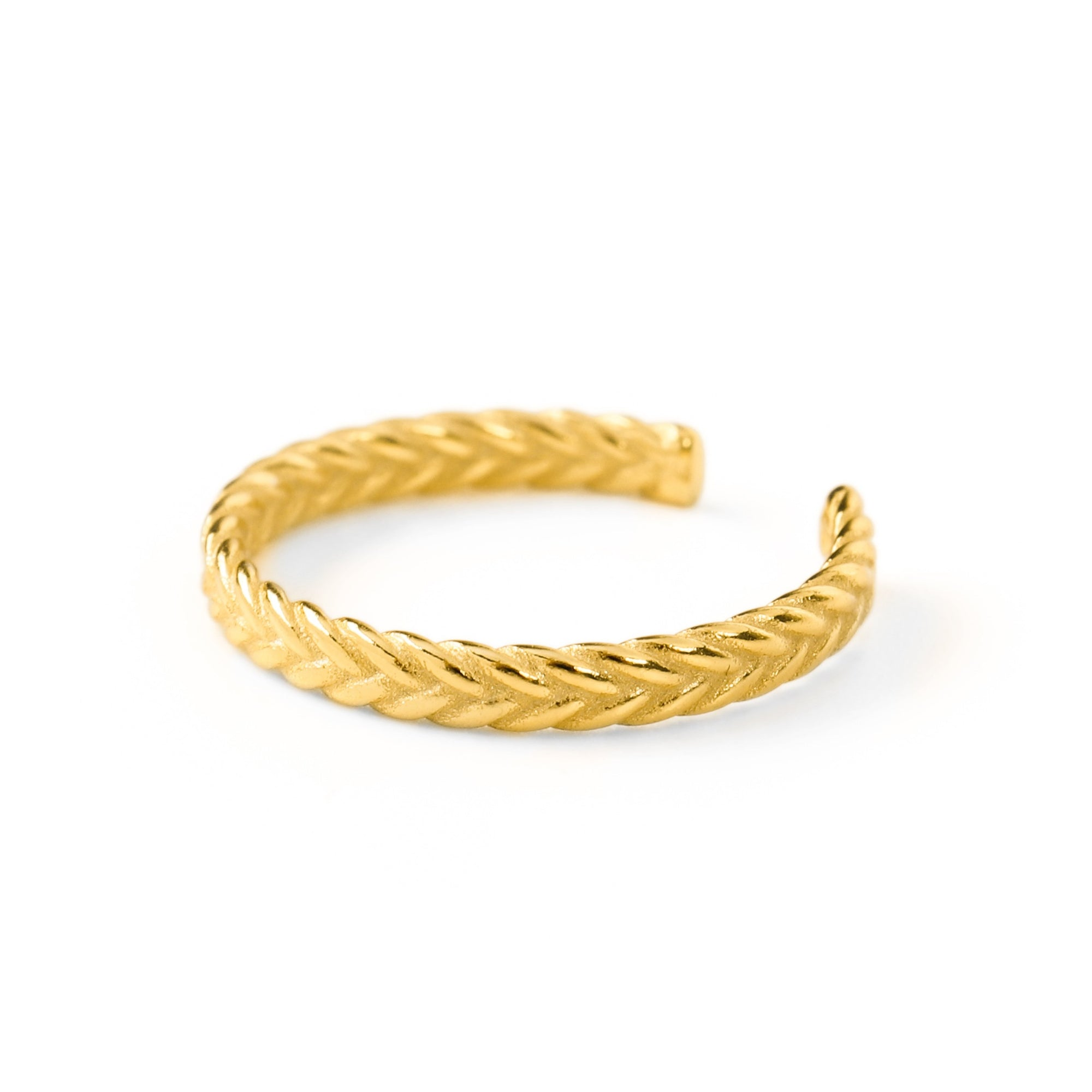 Braided Love Thumb Ring Gold - Wildflowers